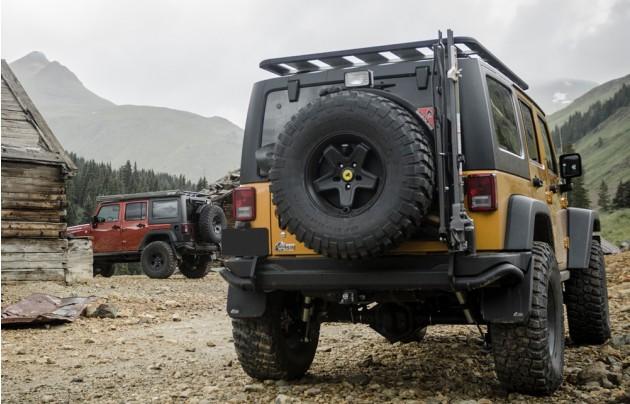 Aev Jk Rear Bumper Tire Carrier Peden 4 Wheel Drive